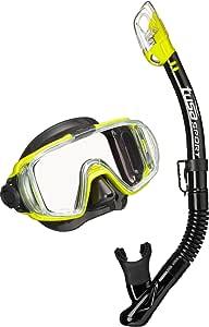 Tusa Visio Pack de snorkel y buceo, gafas máscara tubo para ...