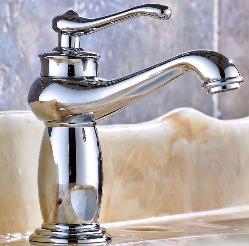 1 LHbox Basin Mixer Tap Bathroom Sink Faucet The gold in the basin, ceramic, hot and cold, Swivel, Chrome Plated Faucet 13