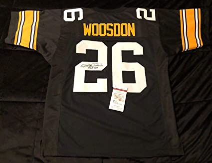 Rod Woodson Signed Pittsburgh Steelers Football Jersey quot HOF 09 quot   WP916816 - JSA Certified - 1dcebc6a2