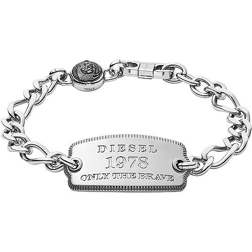 7d6b70a1e083 Diesel Pulsera joyas para hombre Steel Trendy Cod. dx1129040  Amazon.es   Joyería