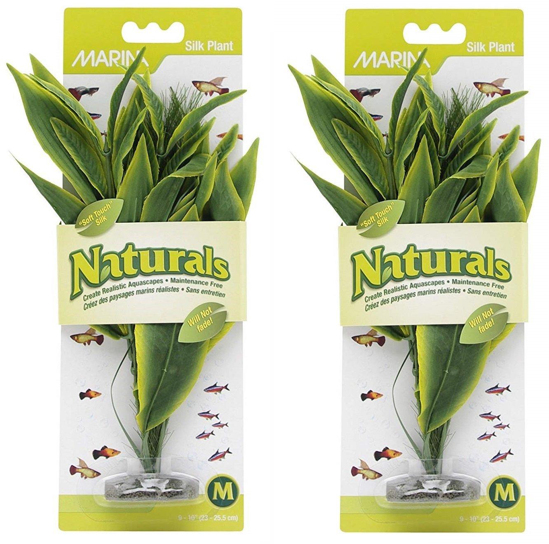 Marina Naturals 2 Pack of Green Dracena Silk Plant by Marina