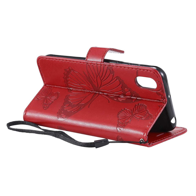 Lomogo Huawei Y5 2019 H/ülle Leder 2019 Schutzh/ülle Brieftasche mit Kartenfach Klappbar Magnetverschluss Sto/ßfest Kratzfest Handyh/ülle Case f/ür Huawei Y5 - LOKTU090264 Rosa Gold