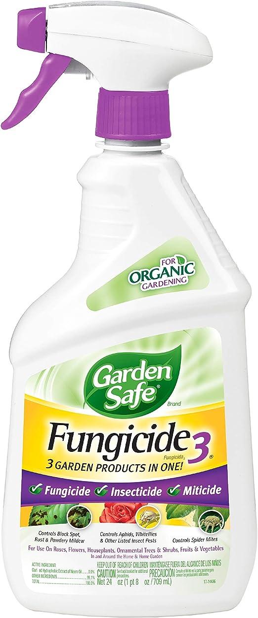 United Industries Corp Jardín seguro Fungicide3 insecticida/fungicida/Miticide 680 G listo para usar Spray 10414 X: Amazon.es: Jardín