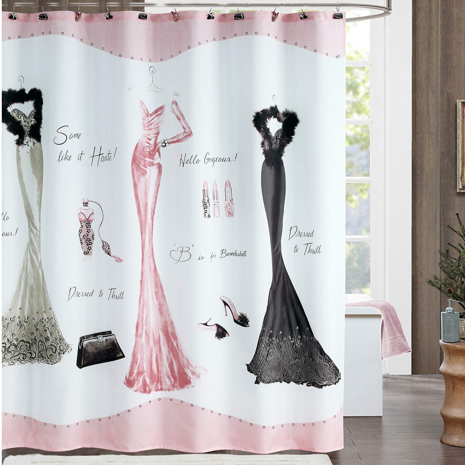 DS BATH Haute Shower Curtain HooksFashion Bathroom HooksDecorative Hooks For
