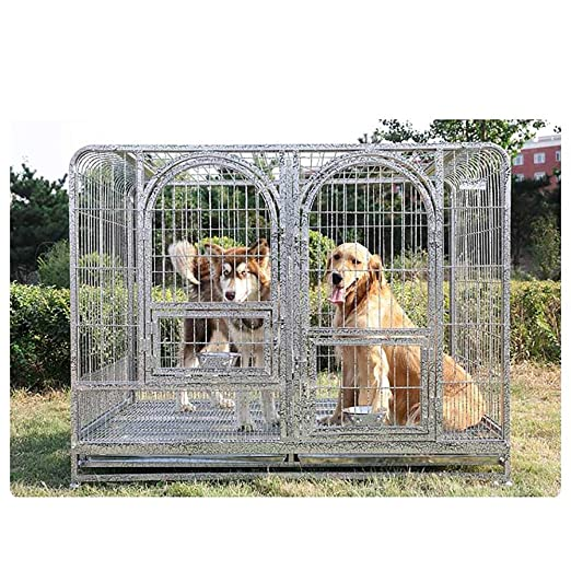 QNMM Gran Jaula para Perros para Mascotas Plegable Jaula para ...