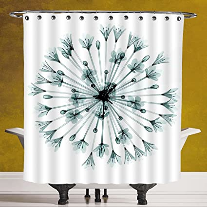 Funky Shower Curtain 30 By SCOCICI Xray FlowerPattern Of Bell Agapanthus Flower Geometric