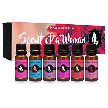 Scent of A Woman Gift Set of 6 Premium Fragrance Oils - Guava Colada Type,  Twilight Woods