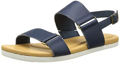 daef6c71d1b1 Teva Womens Avalina Flat Leather Backstrap Sandal Shoes