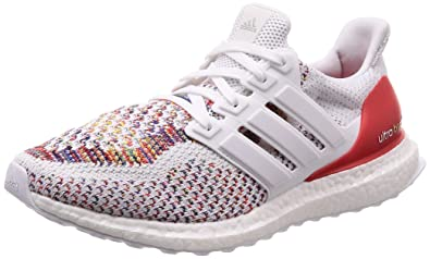 wholesale price 50% price affordable price Adidas BB3911 Men's Ultra Boost Running Shoes, White/White/Red, 9.5 M US