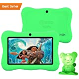"Contixo Kid Safe 7"" HD Tablet WiFi 8GB Bluetooth, Free Games, Kids-Place Parental Control W/ Kid-Proof Case (Green) - Best Gift"