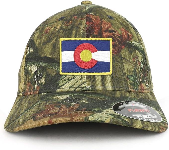 Armycrew Flexfit Oversize XXL Colorado State Flag Patch Retro Trucker Mesh Cap