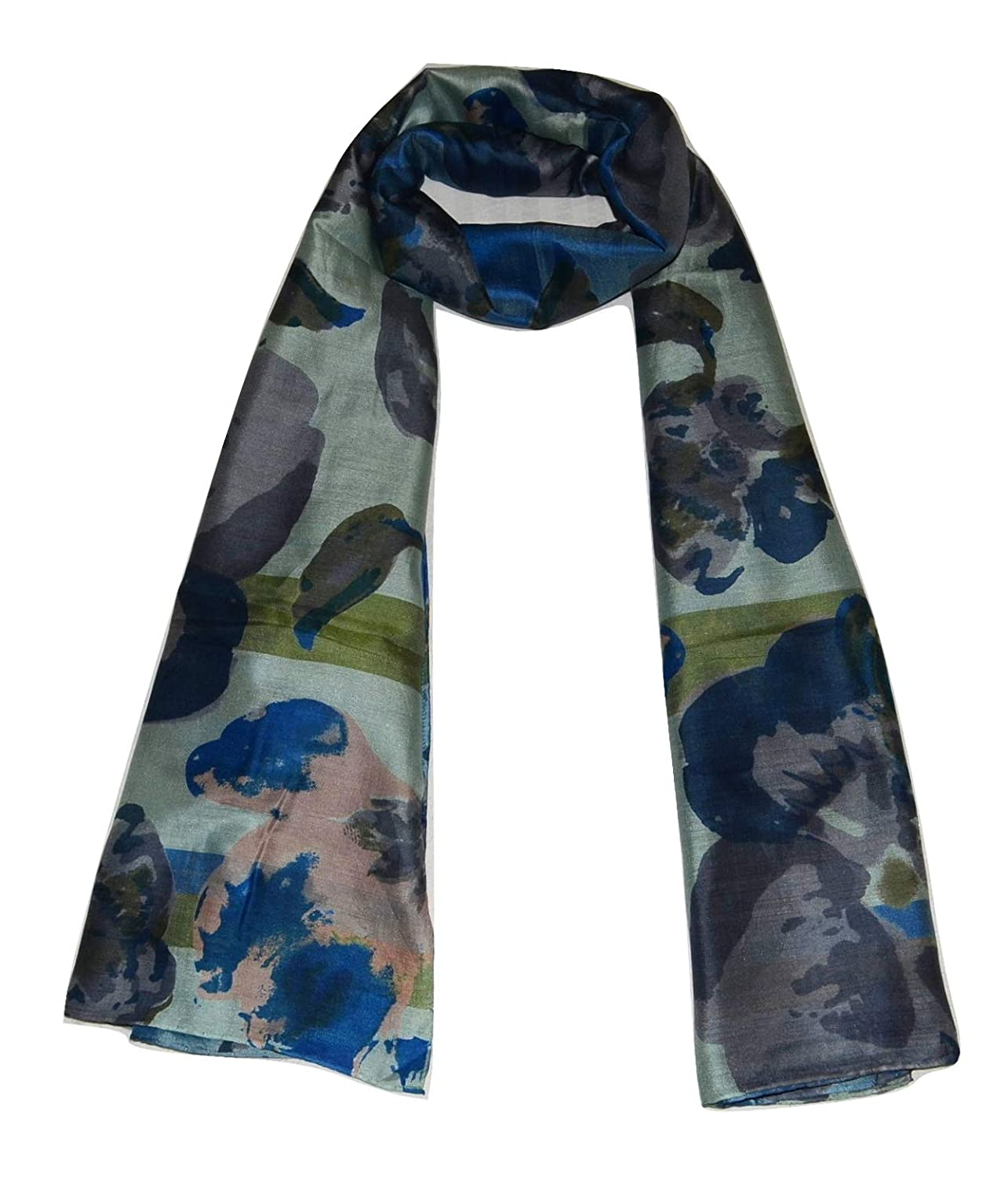 Multicolor 8 Handcrafted 100% Pure Mulberry Silk, Floral Print, Scarf Stole.