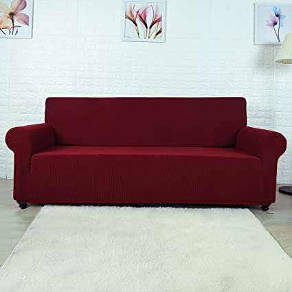 Fanatical Purchase FP Sofa Covers 1 Piece Polyester Spandex Fabric Couch  Cover Protector Stretch Arm