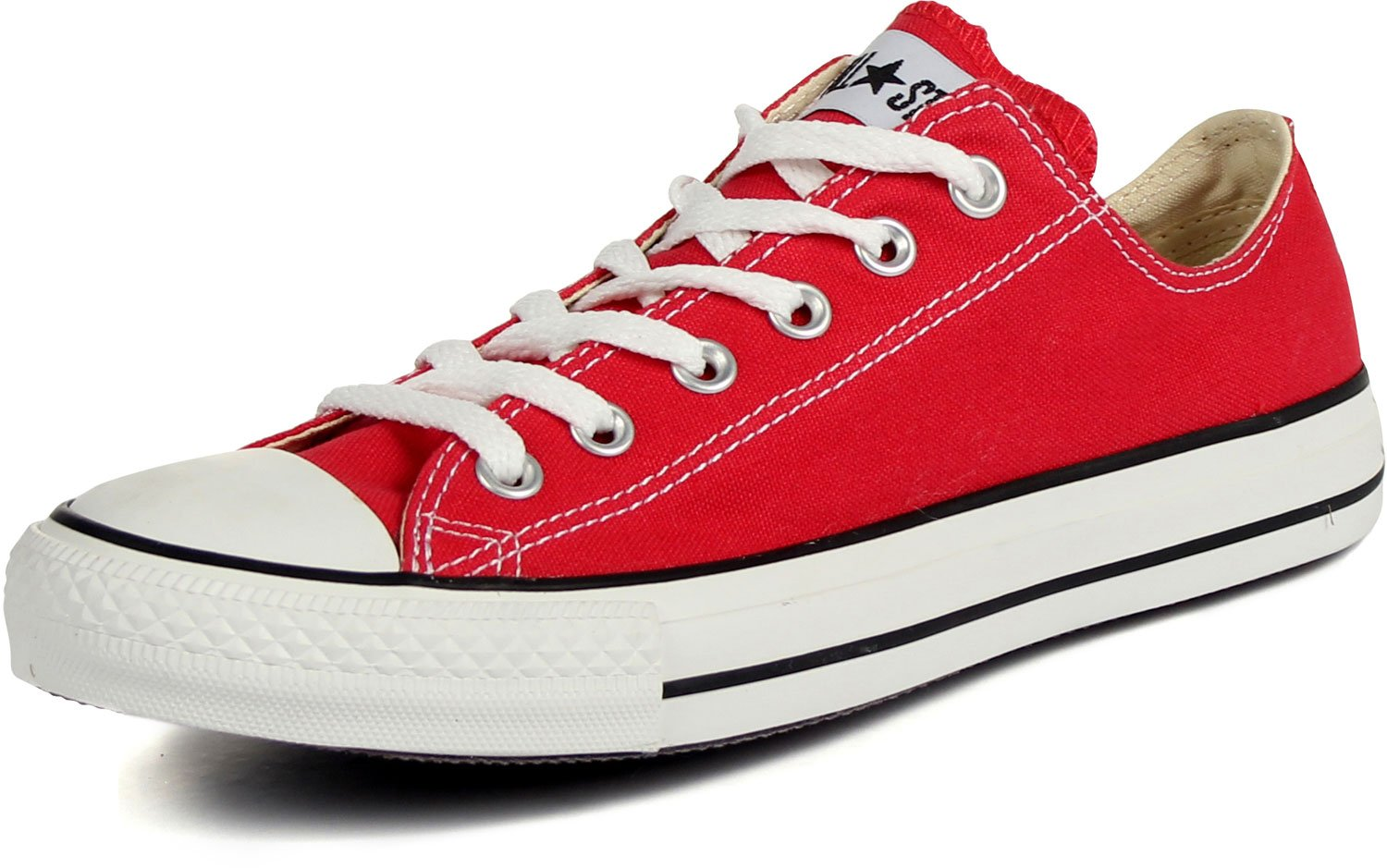 Converse Unisex Chuck Taylor All Star OX Sneaker (5.5 Men 7.5 Women, Red)