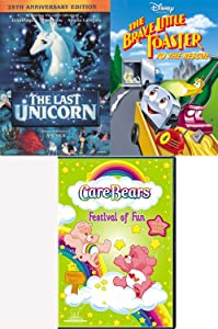 Brave Magical Fun Cartoon Tales Disney Brave Little Toaster to The Rescue & Last Unicorn Movie + CareBears Festival of Fun TV Episodes Care Bears Celebration Warm Hearts Triple Pack