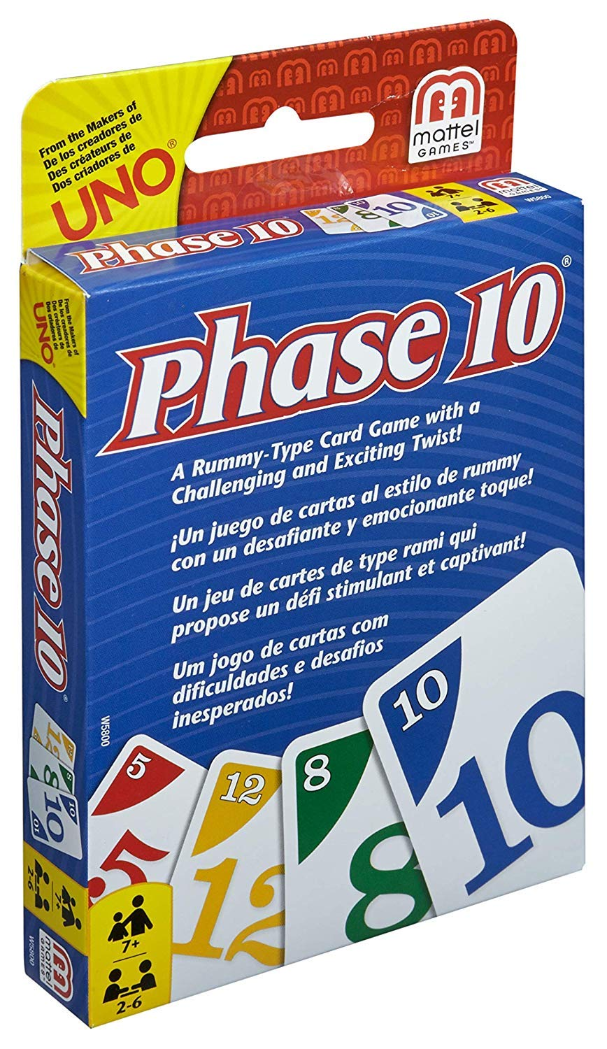 Amazon.com: Shopping E-Kart Phase 10 Card Game, Multi Color ...