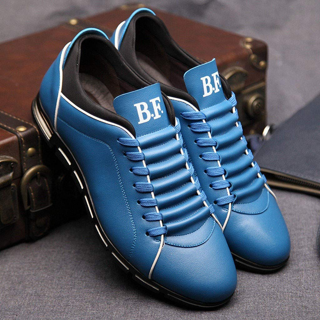 Hunzed Men【Business Casual Leather Shoes】Clearance Mens Brogues Oxford Wingtip Leather Dress Shoes for Business Casual Lace-Up