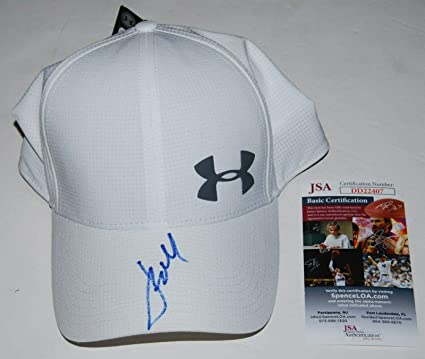 98e4fa82070 Image Unavailable. Image not available for. Color  JORDAN SPIETH signed (UNDER  ARMOUR) White Golf hat ...