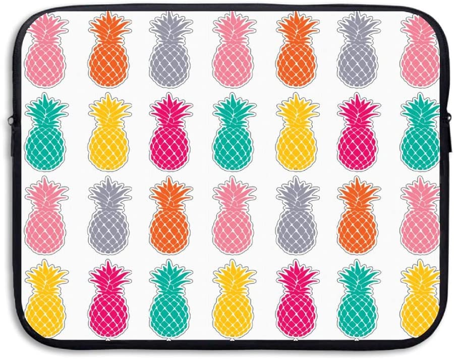 Reteone Laptop Sleeve Bag Cool Colorful Pineapple Art Cover Computer Liner Package Protective Case Waterproof Computer Portable Bags