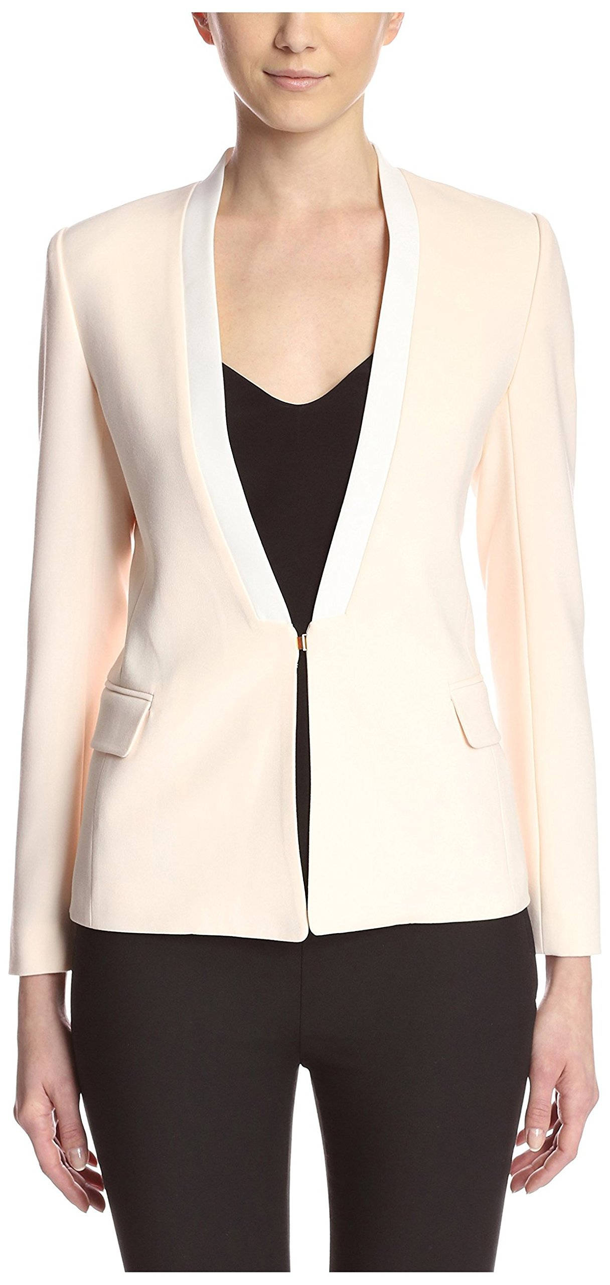 Aijek Women's Love Charm Blazer, Blush/White, 4/L US