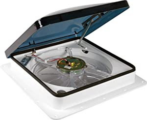 Fan-Tastic RV Roof Vent with 12V Fan & Thermostat - Manual Lift