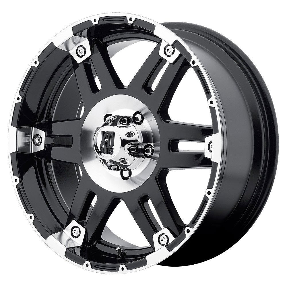 XD Series by KMC Wheels XD797 Spy Gloss Black Wheel With Machined Face (17x8''/6x135mm, 18mm offset)