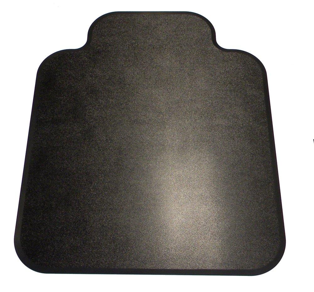 Black Chair Mat - 46 x 55 Inches With Lip Chair Mat - ABS-SL-4655
