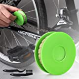 JNUYISW Bike Chain Oiler Roller Lubricator, Bike Chain Gear Oiler Lube Cleaner Lubricant Bicycle Care Tool (Green)