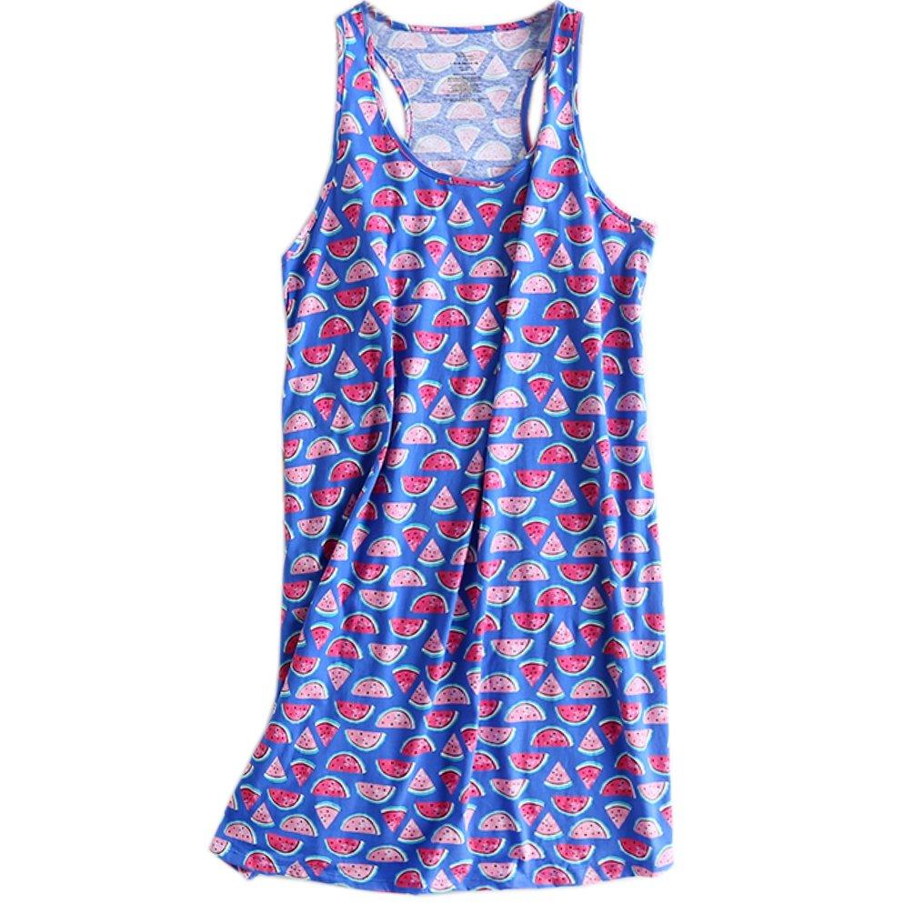 3b4f86ab66937e ENJOYNICE Sleeveless Nightgown for Women Cami Sleepwear Loose Nighties  (L XLarge