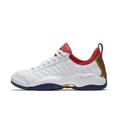Nike Air Oscillate Mens Fashion-Sneakers 140370, White/Metallic Gold-Binary  Blue