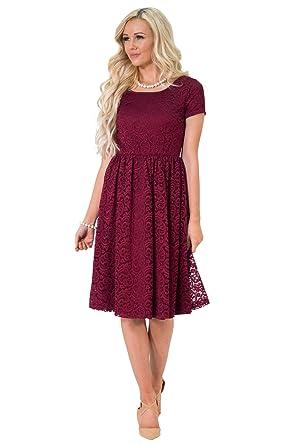 Jen Jenna Modest Lace Dress, Modest Bridesmaid Dress Or Modest Prom ...