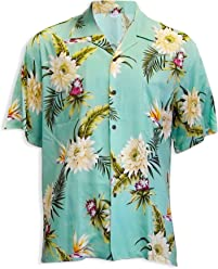 09aa23bbf Ocean Teal Hawaiian Shirt