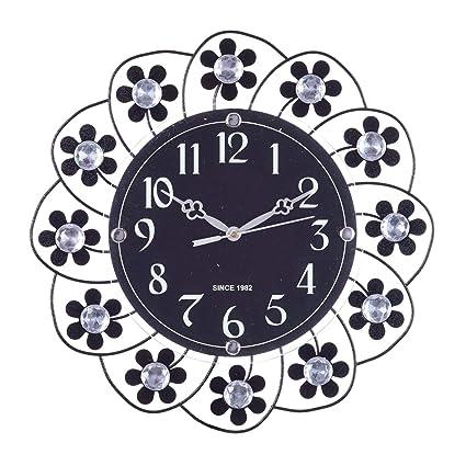 b034818f0 Buy eCraftIndia Decorative Analog Diamond Series Plastic Wall Clock (36 cm  x 3 cm x 36 cm