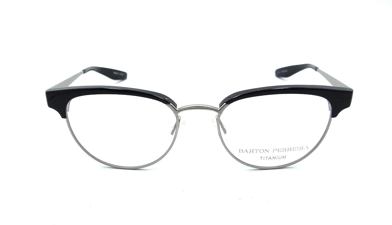 52293ed4948 Amazon.com  Barton Perreira RX Eyeglasses Frames Filly 49x17 Black    Brushed Silver Titanium  Clothing