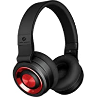 Linpaworld M1 Over-Ear Wireless Headphones (Black Red)