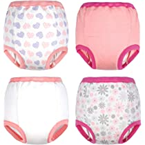 2020 Newest Cotton Training Pants Strong Absorbent Toddler Training Underwear for Baby Girl and Boy 12M-4T