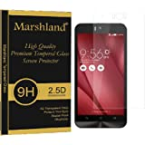 Asus Zenfone Selfie Tempered Glass Anti Explosion 9H Hardness 0.33mm Thickness Bubble-Free Oleo Phobic Coating 2.5D Round Edge 99% Transparency 99% Transparency Crystal Clear Premium Quality Tempered Glass Screen Protector by Marshland®