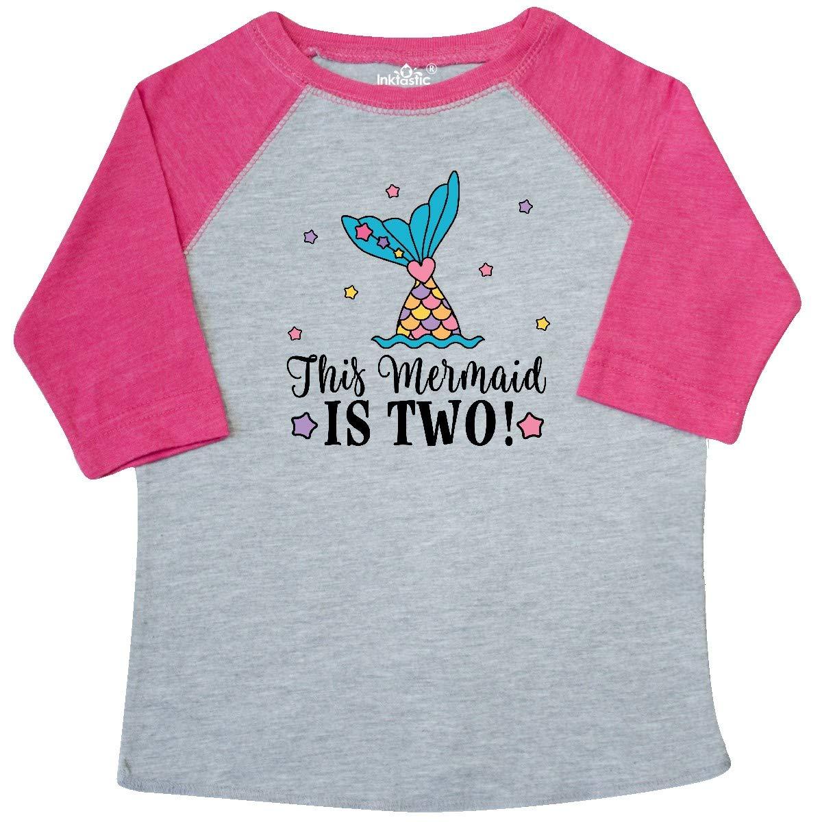 inktastic Mermaid 2nd Birthday 2 Year Old Toddler T-Shirt