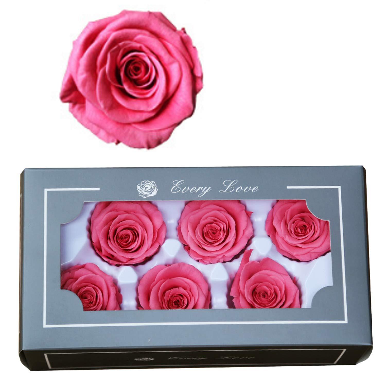 FASFF Coffret cadeau rose éternelle pour petite amie, cadeau de mariage, cadeau pour filles, cadeaux pour femme Orange