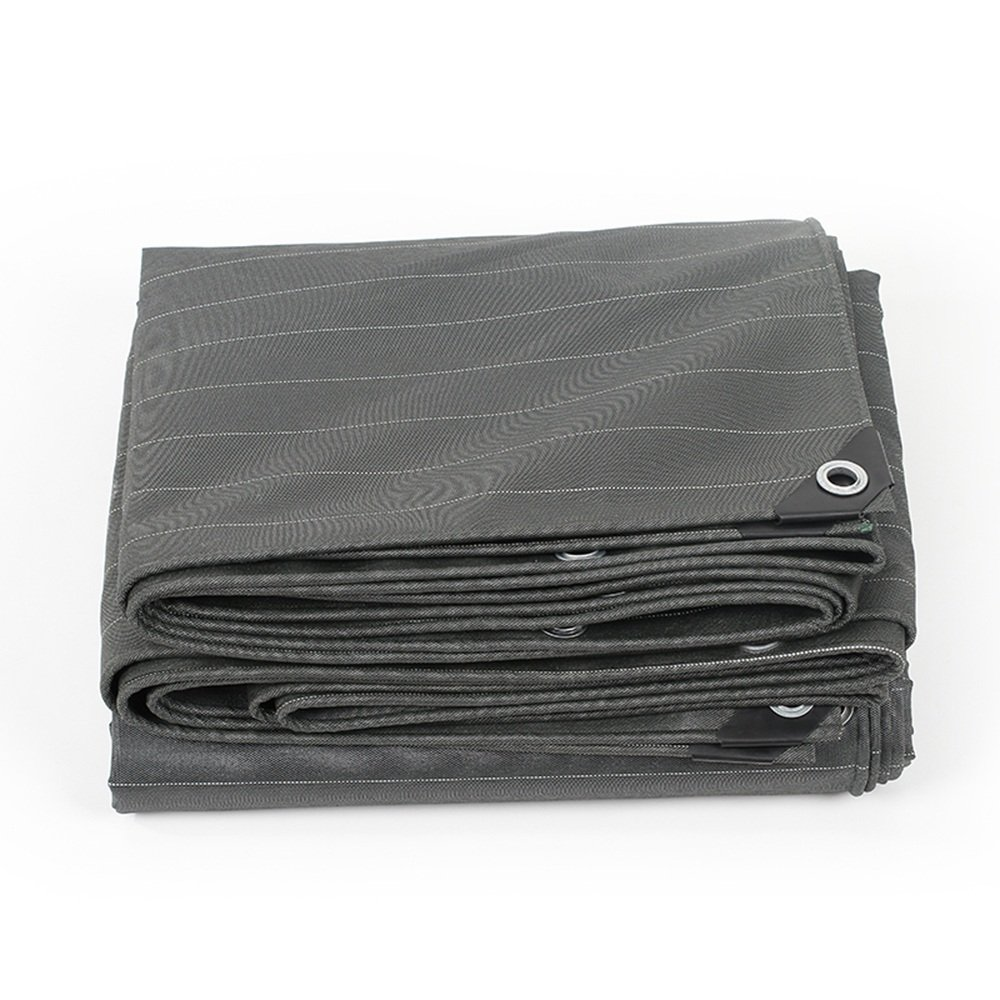 YNN 厚い防水布の防水透水日焼け止めの日除けの植物植物0.5mm、-560G/M²、19のサイズのオプション 防水シート (色 : Gray, サイズ さいず : 6x 7m) B07FNQQGL4 6x 7m|Gray Gray 6x 7m