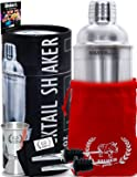 Absolute Cocktail Shaker Set by SILVERgrade- Professional Quality- Complete Kit for Bartenders- Luxury Bag Included- Perfect For Your Home Bar Collection