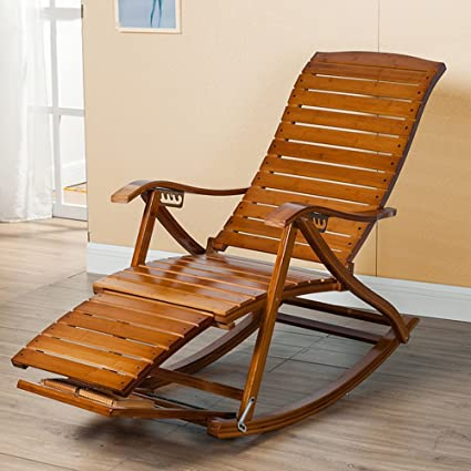 Amazon Com Lounge Chairs Zhirong Rocking Chair Bamboo Old Man