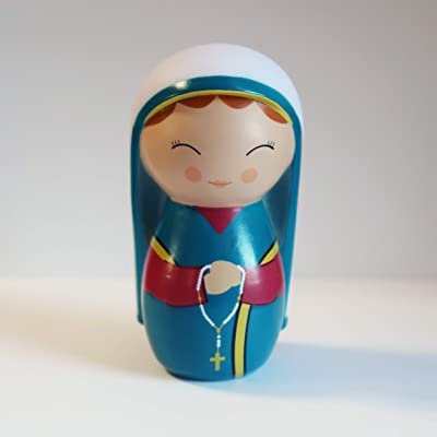 Shining Light Dolls St. Bernadette Soubirous Collectible Vinyl Doll with Story and Prayer Card: Toys & Games