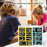 Coogam Metal Wire Puzzle Set of 16 with Pouch,Brain Teaser IQ Test Disentanglemen Iron Link Unlock Interlock Game Chinese Ring Magic Trick Toy for Party Favor Kids Adults Challenge
