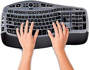 Keyboard Cover Skin for Logitech MK550,Logitech K350 MK550 MK570 Accessories, Ultra Thin Silicone Keyboard Protector Skin,Black