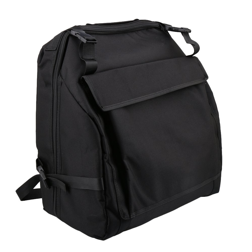 BQLZR 48x52cm 1200D Oxford Cloth Thickened Black Accordion Case Bag for 120 Accordion Bass M4180211072