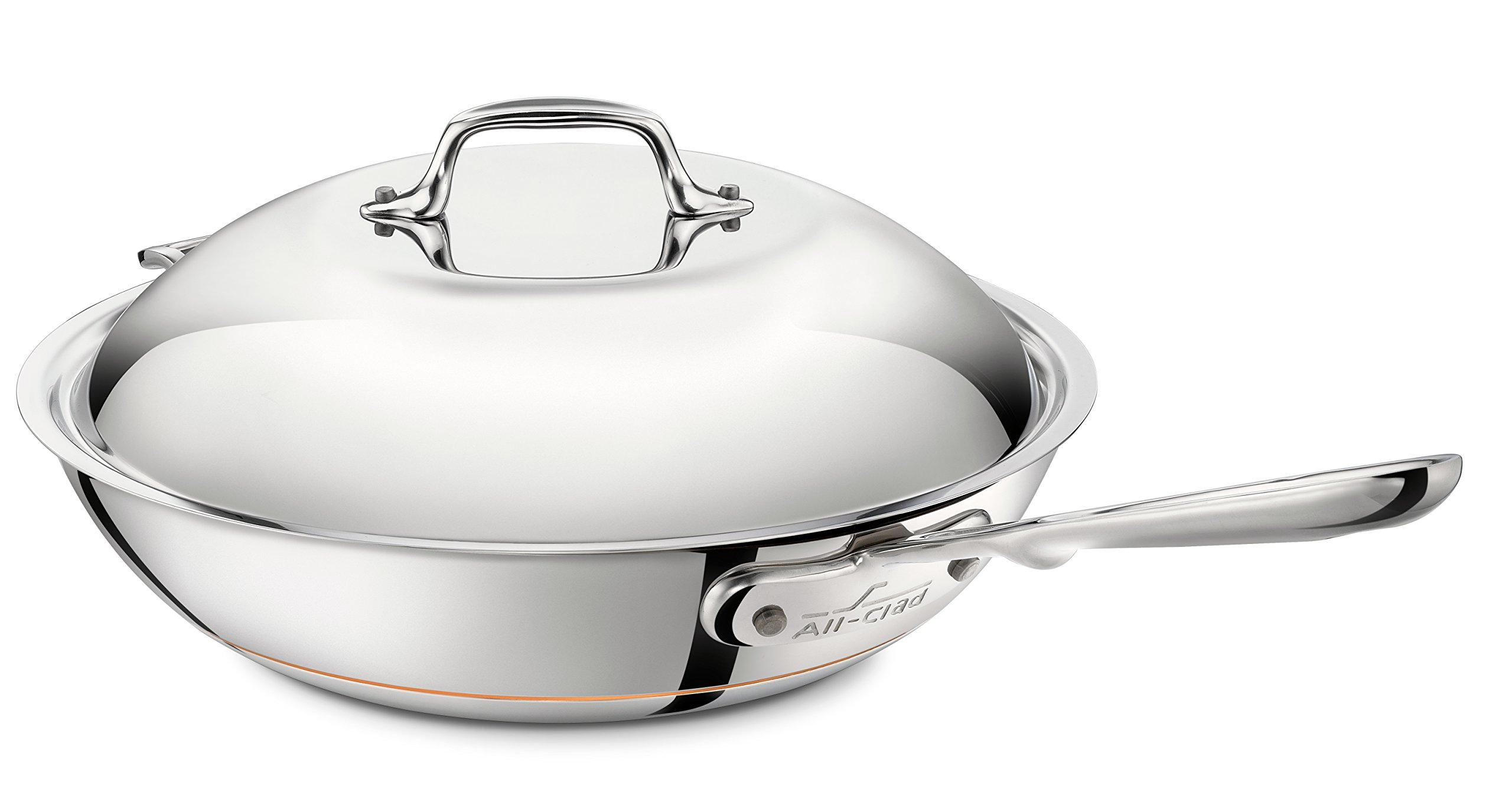 All-Clad 6412 SS Copper Core 5-Ply Bonded Dishwasher Safe Chefs Pan / Cookware, 12-Inch, Silver by All-Clad