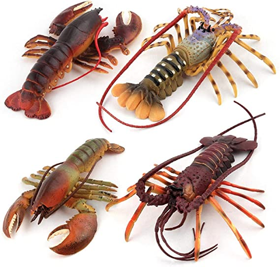 Putars Lifelike Lobster Kids Pretend Play Toy Simulated Marine Creatures Collection,Lobster Claw Catcher,Home Decor Kids Pretend Play Toy Simulated Marine Creatures Collection/…