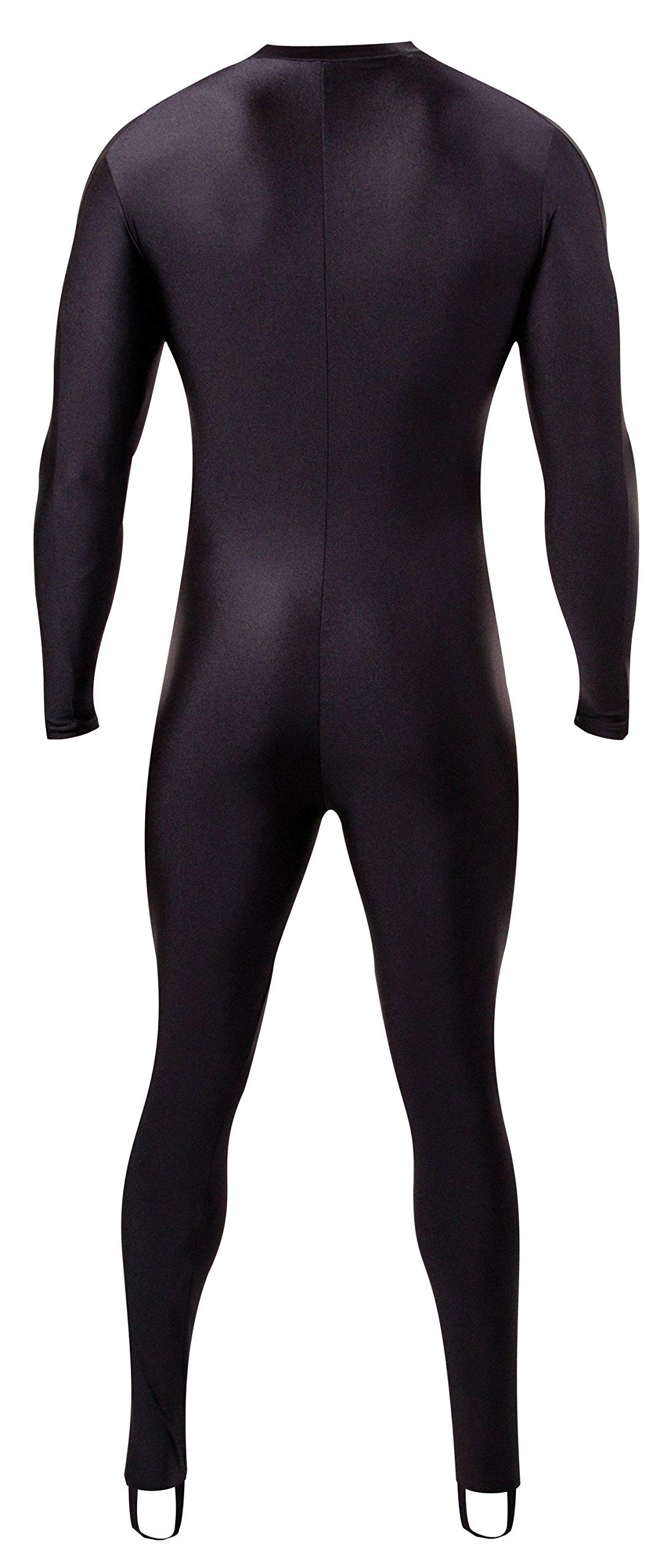 NeoSport Full Body Long Sleeve Lycra Sports Suit for Women and Men - Helps Protect Against UV rays and Skin Irritants - Great for Swimming, Snorkeling, Scuba Diving and All Watersports, Black, XL by Neo-Sport
