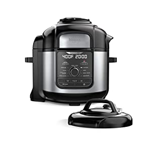 Ninja FD401 Foodi 8-qt. 9-in-1 Deluxe XL Cooker & Air Fryer-Stainless Steel Pressure Cooker, 8-Quart,